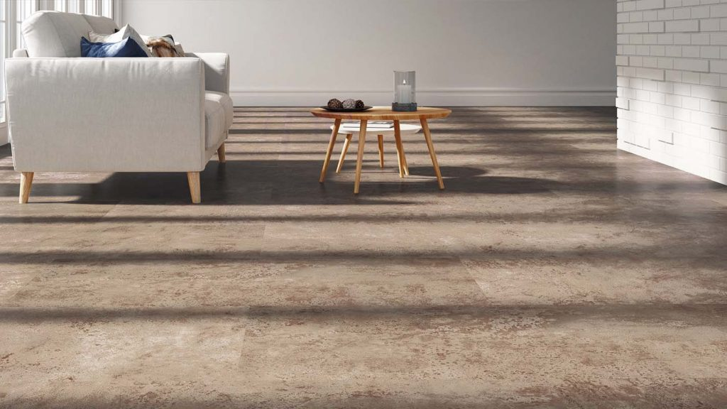 lvt flooring in a living space